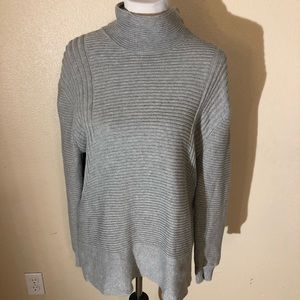 Vince Camino Ribbed Mock Neck Sweater